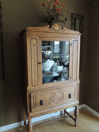 Antique China Cabinet $275