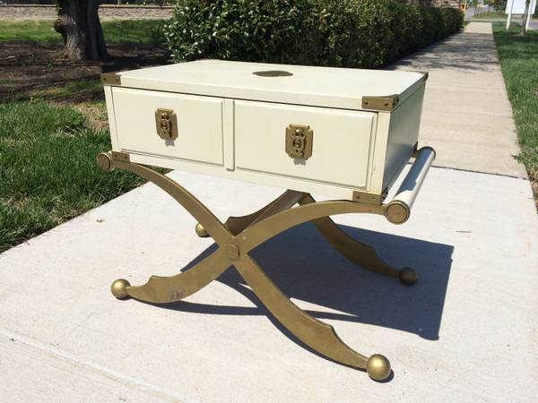Campaign Style Table $85