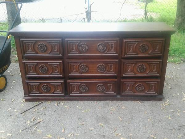 Dresser $50  - This is a great price and I love the details on this piece. This dresser just needs a coat of paint!
