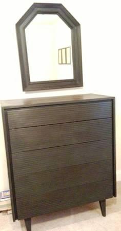 Mid Century Dresser $100 (Mirror above it is $30)