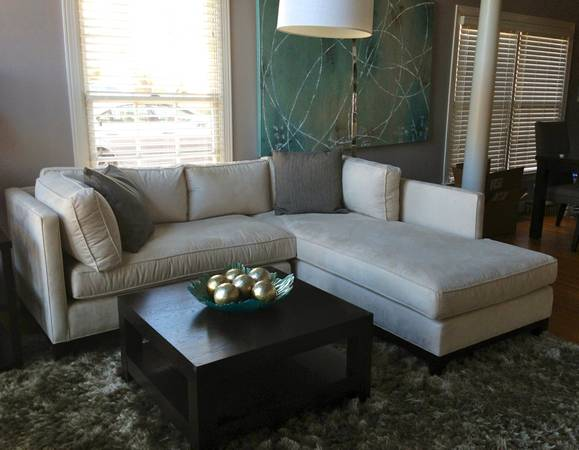 MItchell Gold Bob Williams Sectional $1400  - This sectional has been in a formal living room and rarely used. Seller bought for $4000.