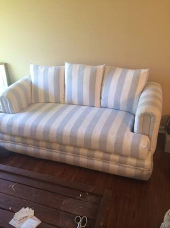Striped Couch $150  - With the right decorative pillows I think this couch could be really cute.