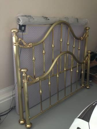 Queen Size Brass Bed $250
