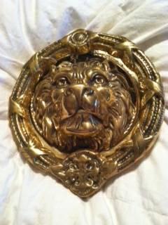 Solid Brass Lion Door Knocker $30