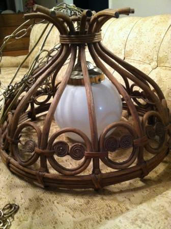 Vintage Light $20  - I really like this light and I think you could use as is or spray paint it.