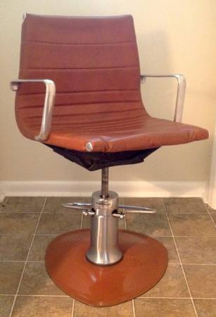 Eames Style Salon Chair $125  - Could be used as a cool office chair or even a bar level seat.
