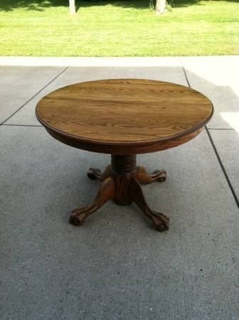 Clawfoot Table $150  - This is a really nice classic table that can be paired with lots of different styles of chairs, includes a leaf.