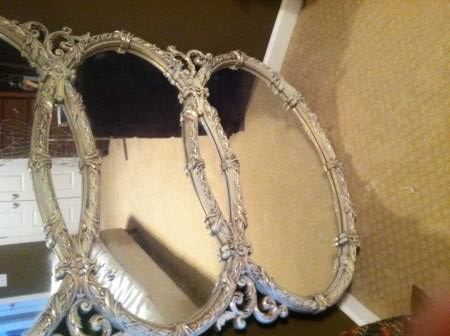 Three Oval Mirror $175  - Really unique mirror, seller would like to sell it today so you might be able to get a good deal on it. I think this would be really pretty over a buffet, a long dresser in a master bedroom or even over a living room sofa.