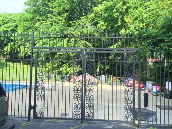Vintage Wrought Iron Gate $350