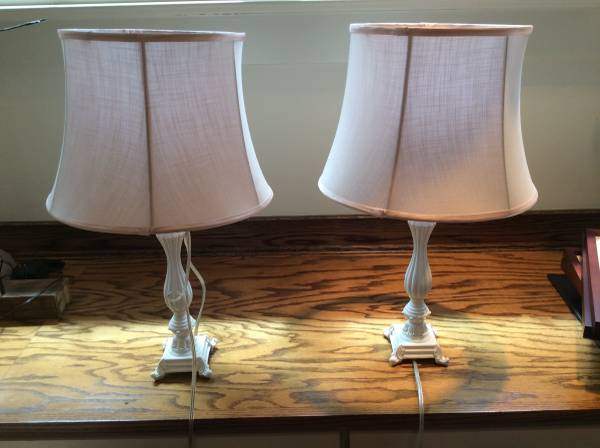 Pair of Lamps $25 - This is a cute pair of lamps, would look great in a nursery or girl's room.