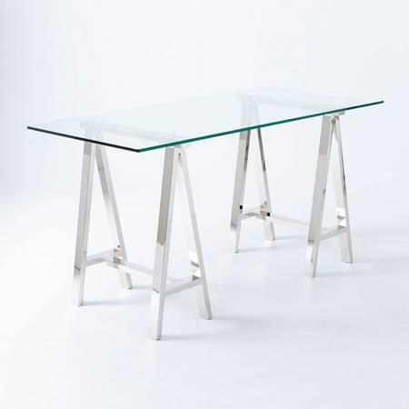 West Elm Glass Top Desk $120