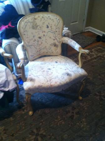 Pair of French Provincial Chairs $250