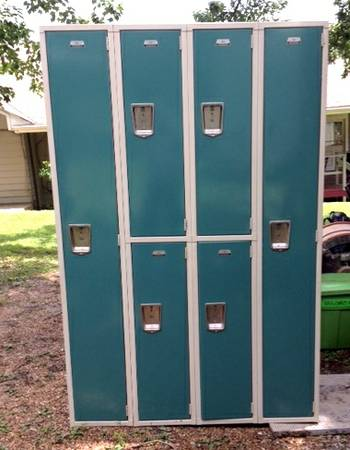 Turquoise Lockers $300  - I love the color on these. They could be a fun addition to a playroom, office, bonus room or even garage.