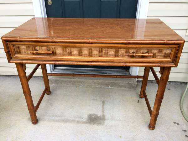 Bamboo Desk $70  - I love this desk. It would be so cute painted....see some examples of bamboo desks painted on my  Pinterest page .