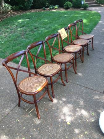 Dining Chairs with Caned Seats $20 each