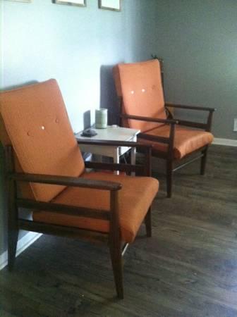 Pair of Danish Mid Century Chairs $100