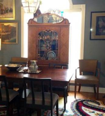 Dining Table with Four Chairs $75