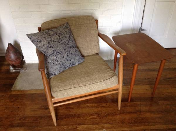 Danish Chair and Side Table $120