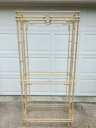 Wrought Iron Shelving Unit $100