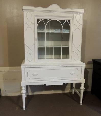 Vintage White Refnished Hutch $250