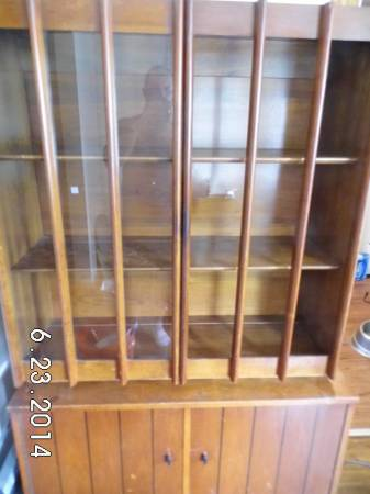 Mid Century Hutch $40  - There isn't a really good photo of this piece but I think with a little tlc it could be a great piece.