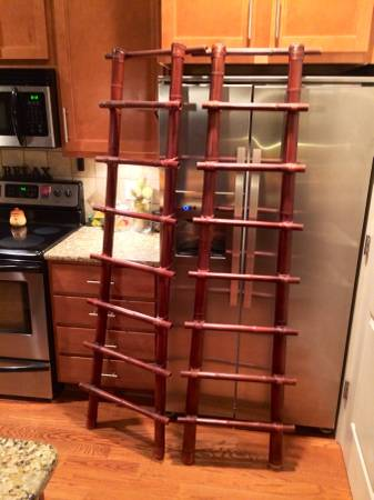 Pair of Decorative Bamboo Ladders     $60
