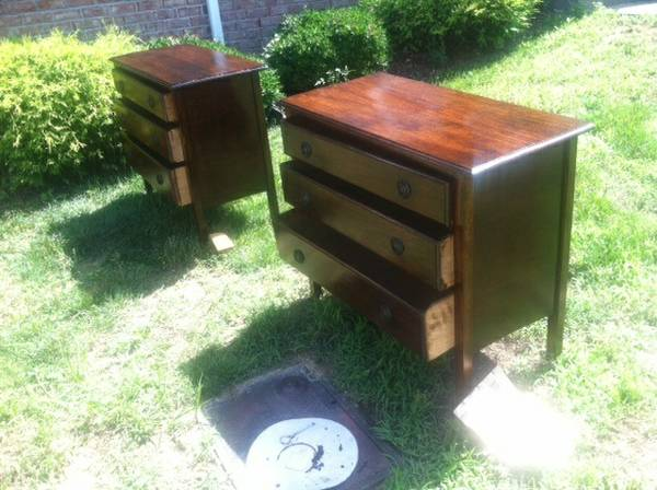 Vintage Dressers (2 available)      $65   These smaller dressers can be a good option for nightstands.