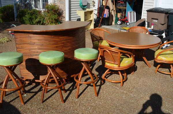 Vintage Tiki Bar and Dining Set     $2,500   I realize this won't be for everyone but thought it was a fun set.