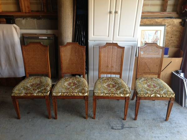Caned Back Dining Chairs     $50   Set of 4