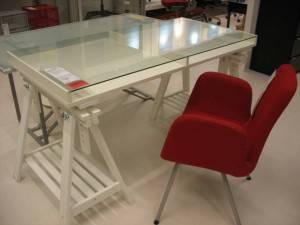White Ikea Desk     $125