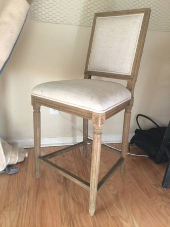 Restoration Hardware Linen Barstools (3 available)     $150 each     View on Craigslist