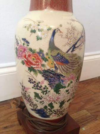 Vintage Peacock Lamp     $15     View on Craigslist