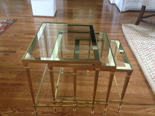Brass Nesting Tables     $50     View on Craigslist