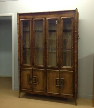 Vintage Faux Bamboo China Cabinet    $300   This piece is stunning, I love it! It would look great as is or painted. This cabinet is in Winchester, TN which is probably about an hour from Nashville.    View on Craigslist