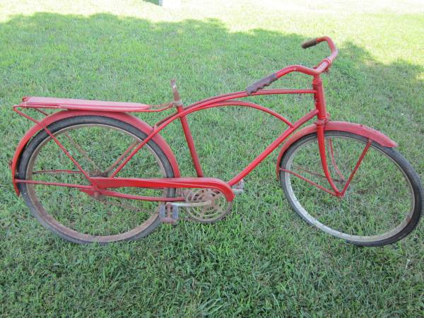 Antique Bike     $85   This would be a fun decorative piece, it look great hanging on a big wall. Would also be perfect for a retail space or coffee shop.    View on Craigslist