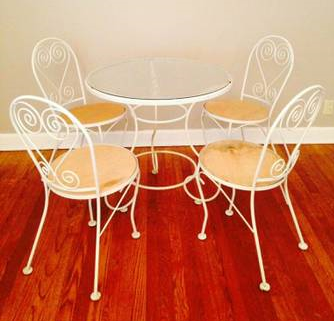 Cafe Table and Chairs     $80   This set would work really well in a sun room.    View on Craigslist