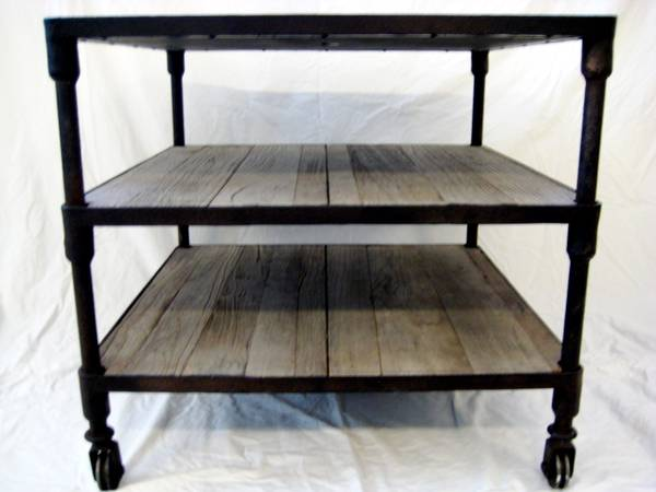 Restoration Hardware Dutch Industrial Side Table     $450   This table is currently on special at  Restoration Hardware  for $555.    View on Craigslist