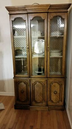 China Cabinet     $50   This is a good price for a china cabinet - would look great with a coat of paint.     View on Craigslist
