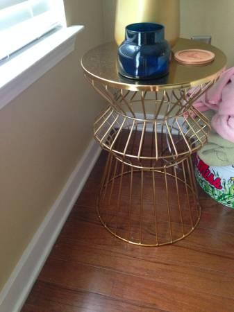 Pair of Gold End Tables     $60     View on Craigslist