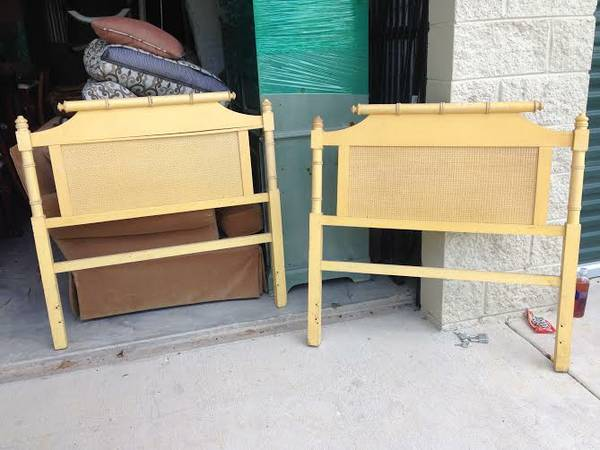 Pair of Vintage Bamboo Twin Headboards     $150   I love these headboards. They would be so pretty painted.    See on Pinterest      View on Craigslist
