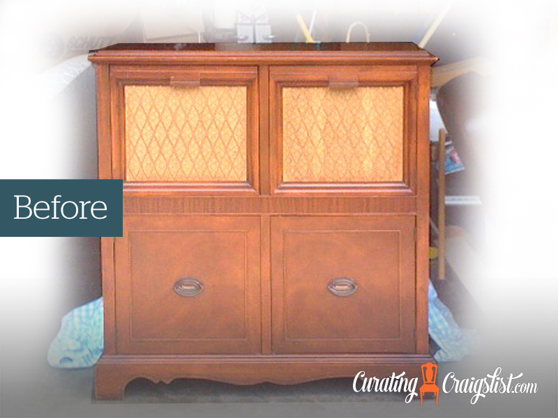 Vintage Radio Cabinet    Check out my  Inspiration Page  to see how this piece was transformed.
