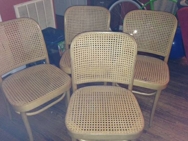 Set of Four Caned Dining Chairs     $25     View on Craigslist