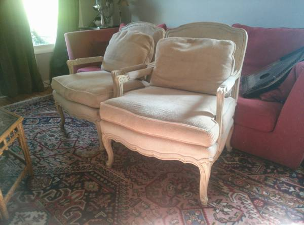 Pair of French Style Chairs     $160     View on Craigslist