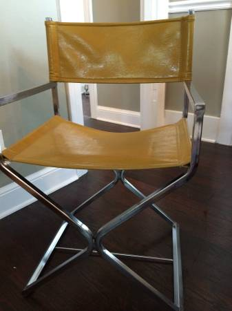 Vintage Leather Director's Chair     $40     View on Craigslist