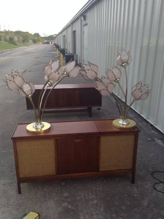 Vintage Flower Lamps     $40   I think these lamps are really cool and for $40 they are a good deal.    View on Craigslist
