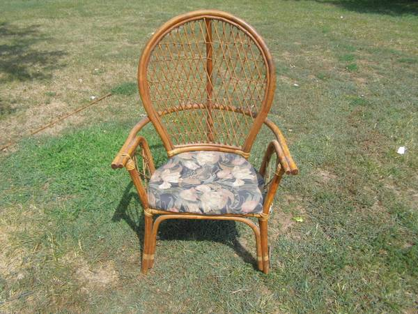 Rattan Chair     $10   This is a steal! This chair just needs a coat of pant and a new cushion.    See on Pinterest      View on Craigslist