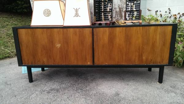 Mid Century Buffet     $100   This piece needs a bit of tlc but would be great used as a entertainment center.    View on Craigslist