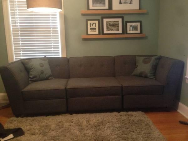 Charcoal Gray Sofa     $400     View on Craigslist