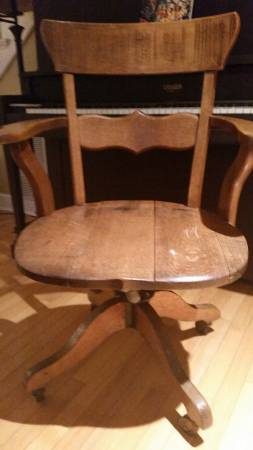 Vintage Oak Office Chair     $55     View on Craigslist