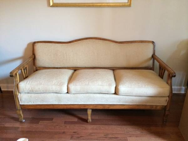 Antique Sofa     $150   I love this antique sofa. It has been recently reupholstered.    View on Craigslist